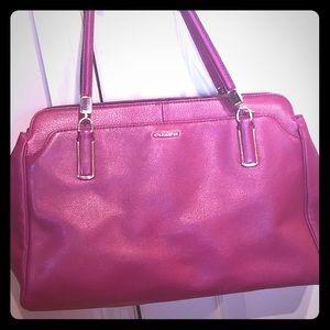 Coach Fuchsia leather shoulder bag